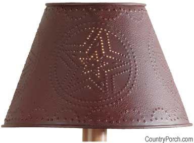 Red Metal Star Lampshade