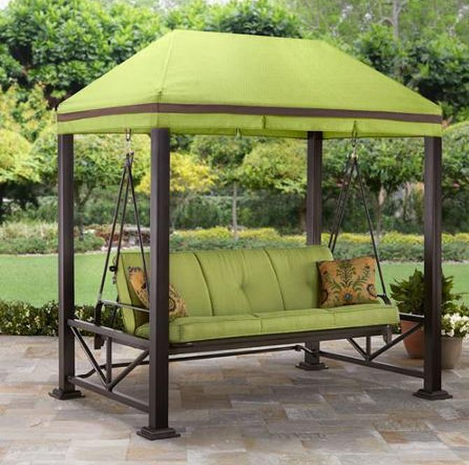 Outdoor Gazebo Patio Canopy Furniture Swing Bench Seat Chair Deck Hammock Summer Outdoor Patio Swing Porch Swing Bed Patio Gazebo