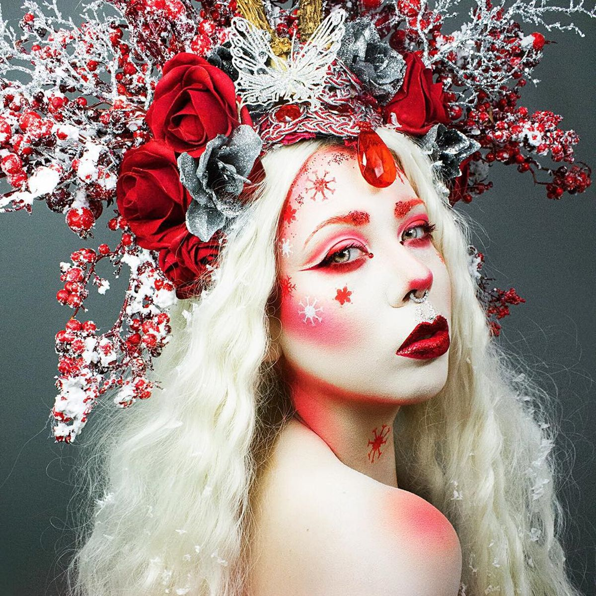 TWIGGYBRAINDEAD Red eyeshadow, Creepy makeup, Sugarpill