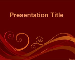 flexible powerpoint template is a free ppt template with swirl, Modern powerpoint