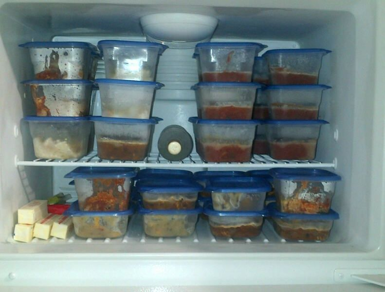 How to freeze food in plastic containers bulk cooking