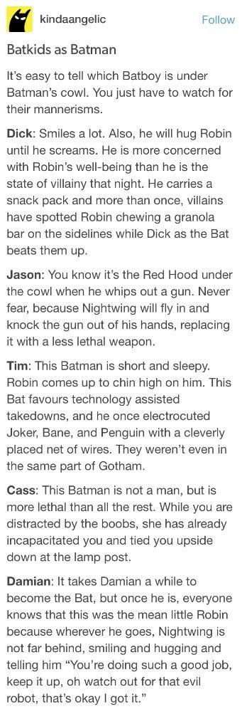 Hmm    Yup  Pretty much it  | Headcanons❤ | Batman family, Marvel