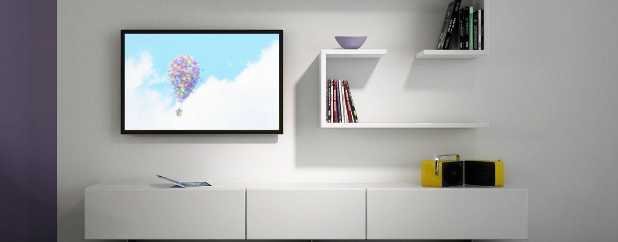 redoutable meuble tv blanc laqué long   Décoration française ...