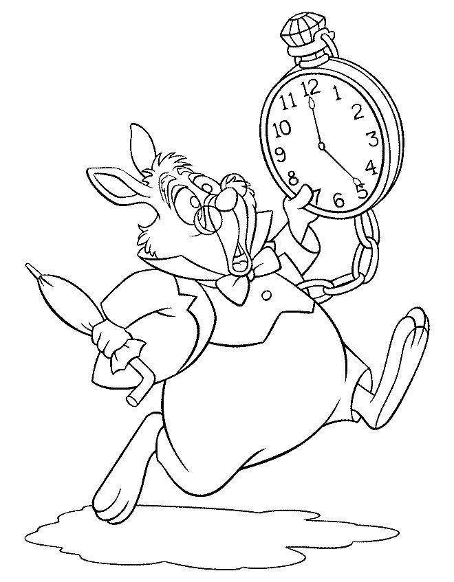Desenhos para pintar Alice no País das Maravilhas 2 | Desenhos para ...