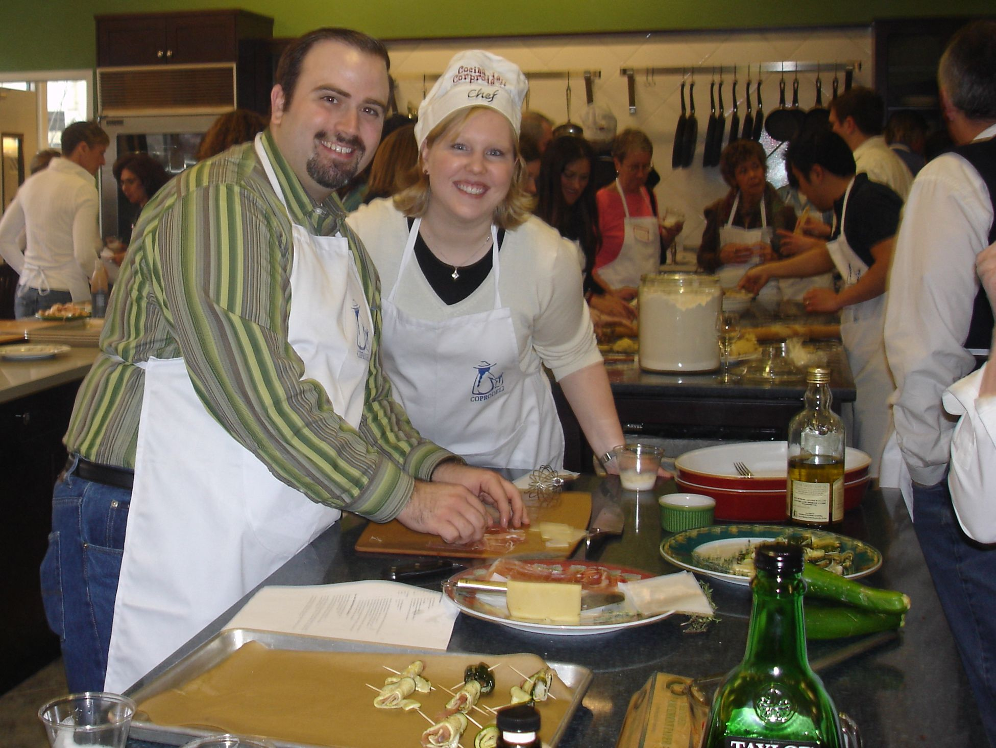Cooking with my husband, Jeff, at the 2006 Coprodeli fundraising event at the Merchandise Mart.