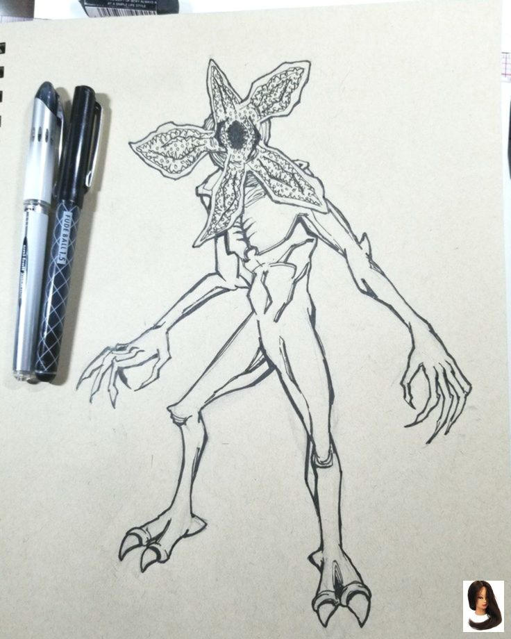Stranger Things Drawings Notitle Demogorgon Stranger Things Stranger Things Tattoo Stranger Things Art