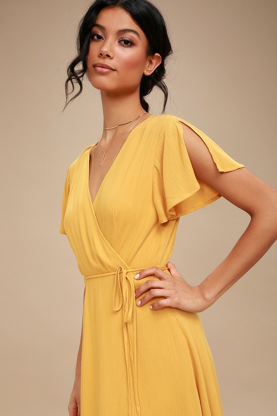 16+ Yellow wrap dress ideas