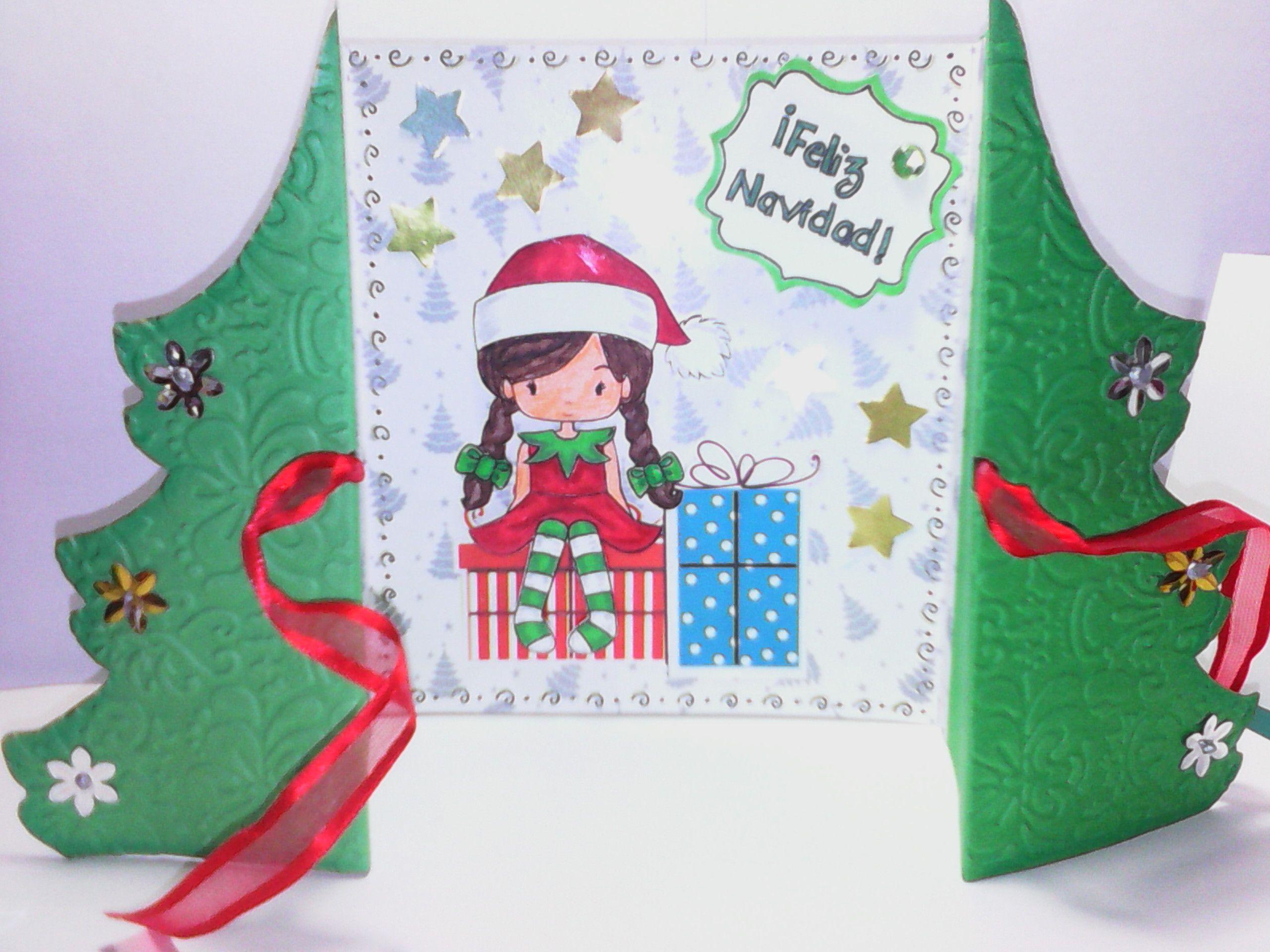 reto 33 vci tarjeta navidad 3d ganadora - Tarjeta De Navidad En 3d