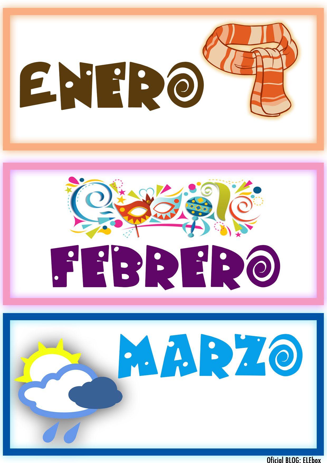 Los Meses Del Año Enero Febrero Y Marzo Foldable Pinte