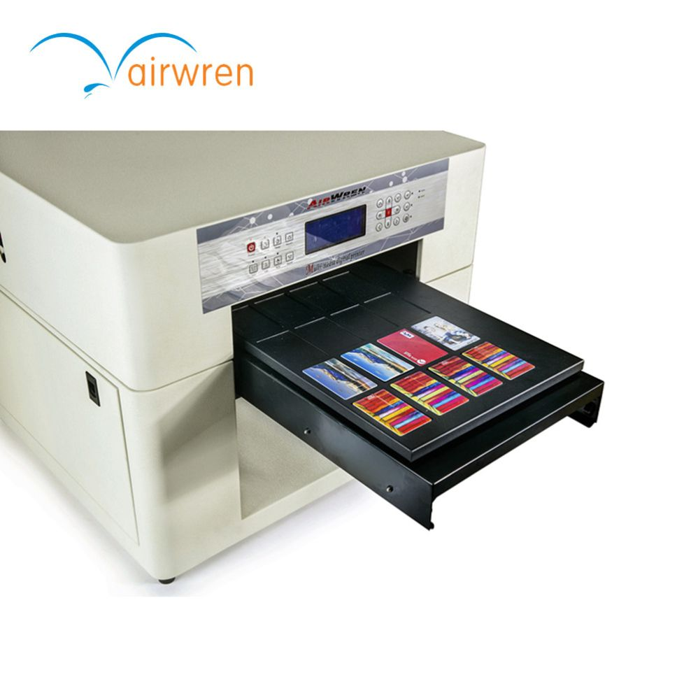 Uv Curing Plastic Id Card Printer A3 Size Uv Printing Digital