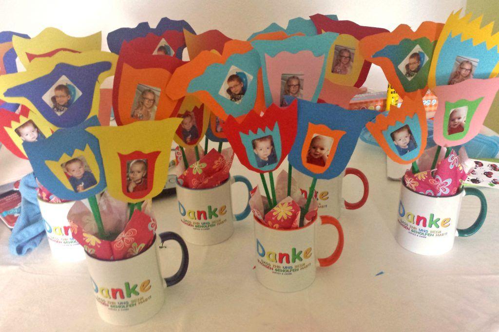 Kindergarten abschiedsgeschenk fertig tulpentopf for Geschenkideen erzieherin