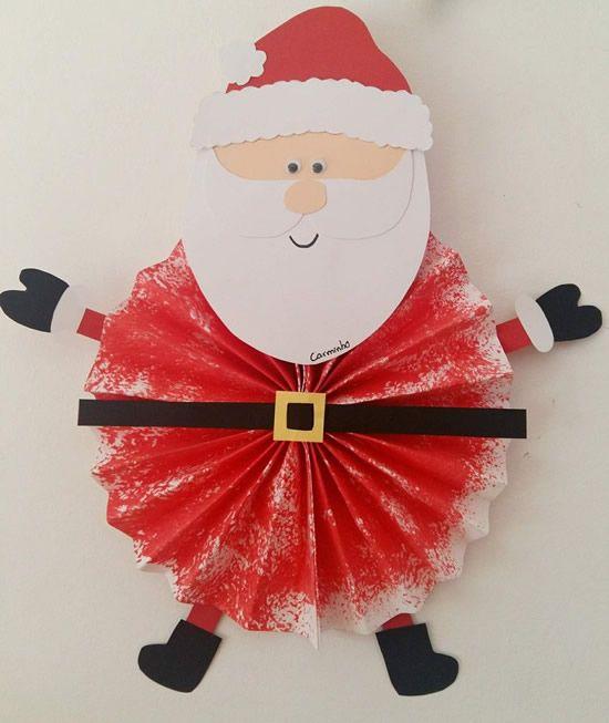 Papai Noel De Papel Para Fazer Com Crianças Coisas Para Comprar