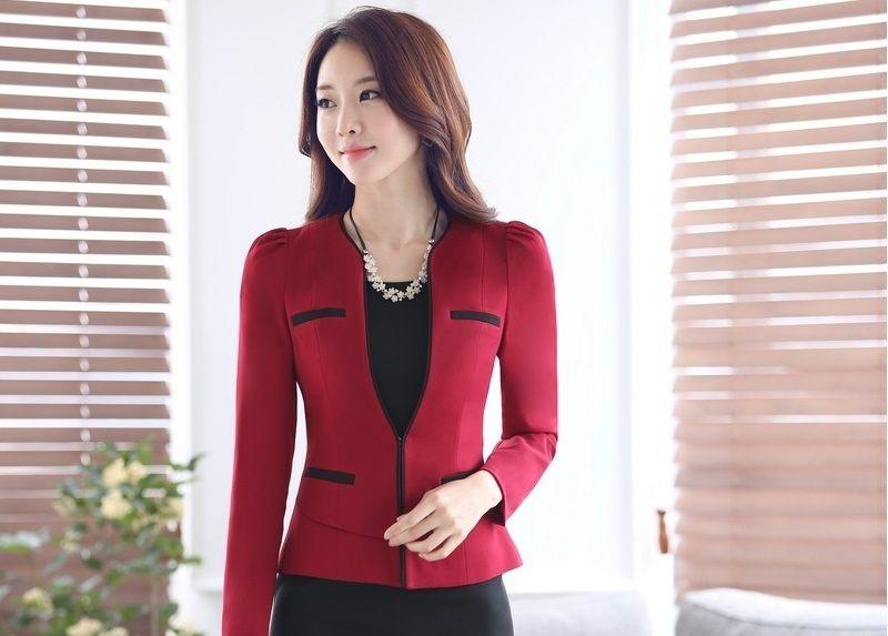 f4ba4dde764f4 Spring Fall Formal OL Styles Professional Business Women Blazers Ladies  Jackets Outwear Blazer Coat Female Work Wear Tops Blaser
