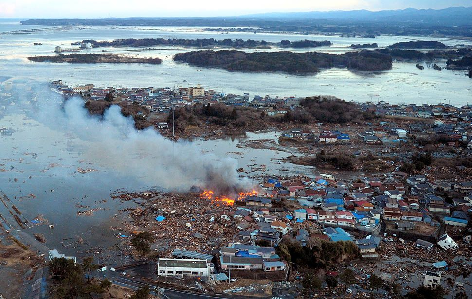 Destruction and radiation danger in aftermath of the Japan e