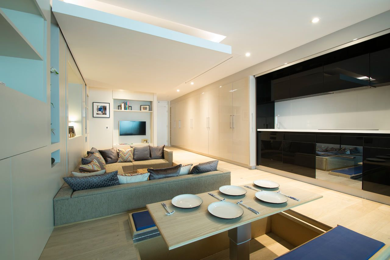 Yo Home Is A Convertible Apartment Concept With Images Two Bedroom House Home Interior Architecture