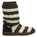 UGG Classic Tall Stripe Knit Chocolate 5822