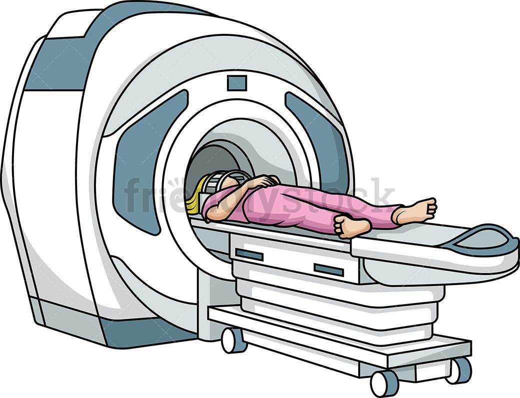 Woman In MRI Scanner Clip art, Cartoon