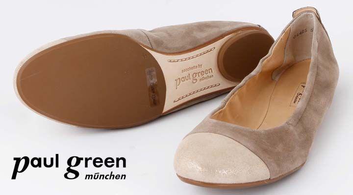 timeless design f5c06 d6a22 Paul Green Ballerina Beige Sacchetto Schuhmachart | footwear ...