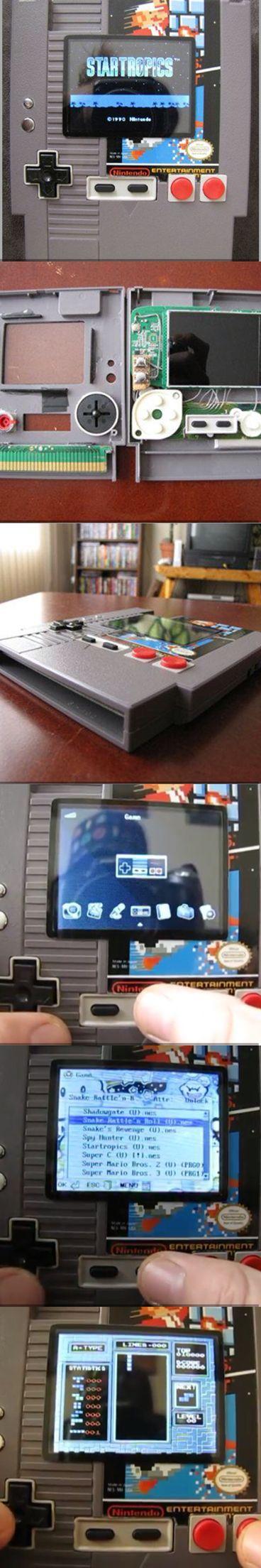 NES cartridge emulator NES custom NES mod in 2020 Retro