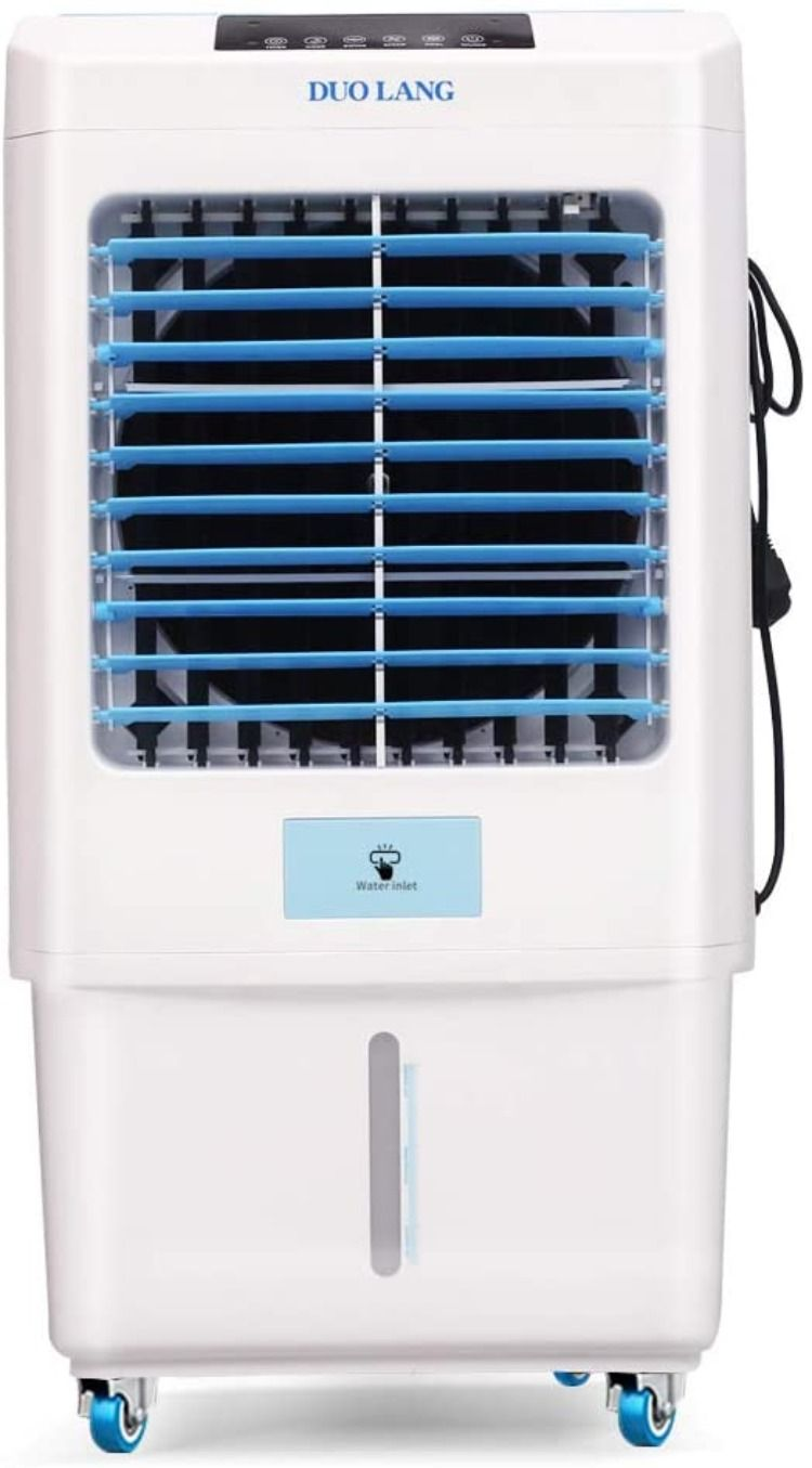 Evaporative Air Cooler With Fan Humidifier For Indoor Outdoor In 2020 Air Cooler Swamp Cooler Evaporative Air Cooler