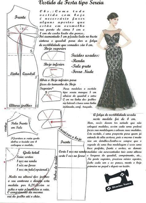 Costura E Modelagem Trazos Vestidos Moldes De Vestidos
