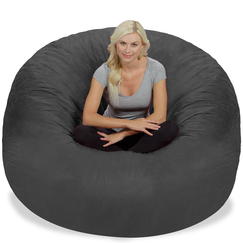 Fantastic Chill Sack Bean Bag Chair Giant 6 Memory Foam Furniture Ibusinesslaw Wood Chair Design Ideas Ibusinesslaworg