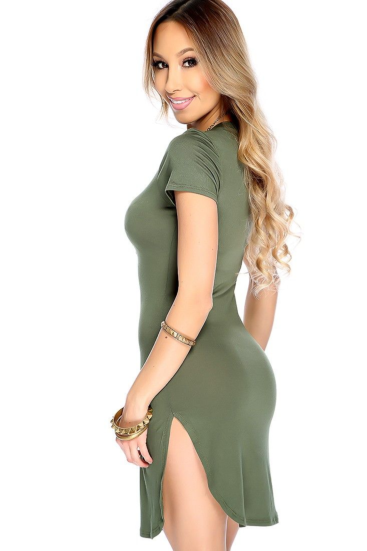 Enjoy a day out while looking your best with this cute dress! Featuring  uneven hem  a2b46bf1b