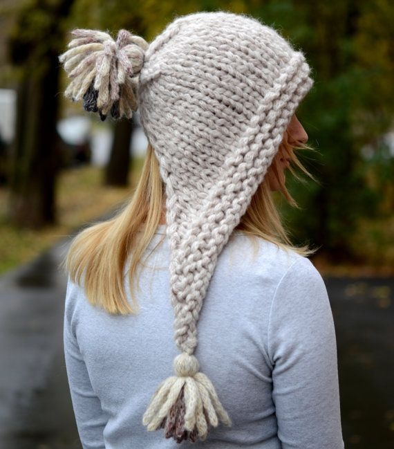 Chunky Knit Hat • KnittingCrochetKLM | Hats | Pinterest | Guantes ...