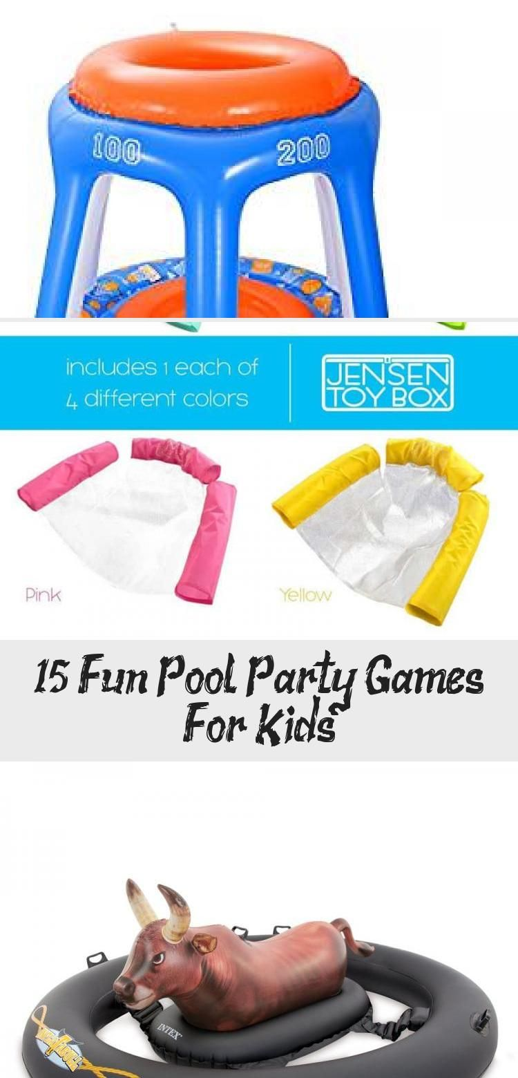 These fun pool games for kids and teens will keep them swimming all summer long. Save these games for your pool party ideas! #poolpartyBirthday #Tropicalpoolparty #poolpartyCupcakes #poolpartyDesign #Swimmingpoolparty #summerpoolparties
