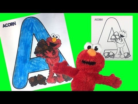 Learn Abc Alphabet Sesame Street Elmo Letter A Coloring Littlewishes Youtube Learning Abc Abc Alphabet Sesame Street