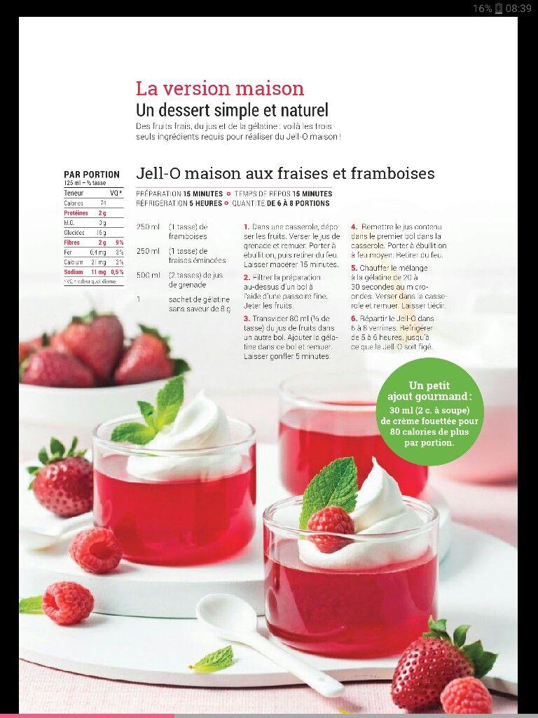 Jell-O maison aux fraises et framboises