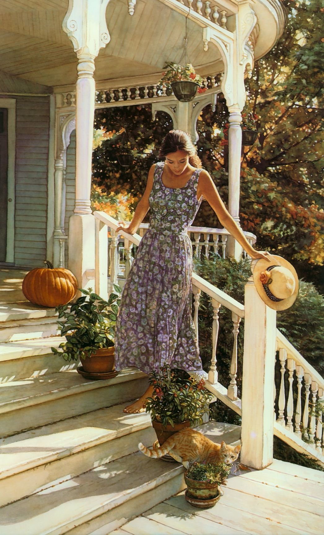 So much detail in a watercolor piece!  Steve Hanks!