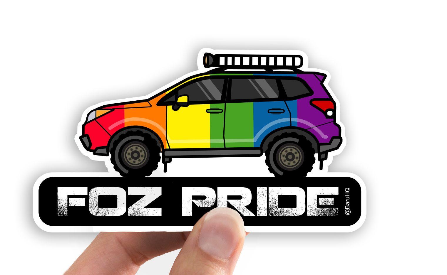 Foz Pride Subaru Forester Car Decal Outdoor Stickers Subaru Forester Subaru [ 937 x 1521 Pixel ]