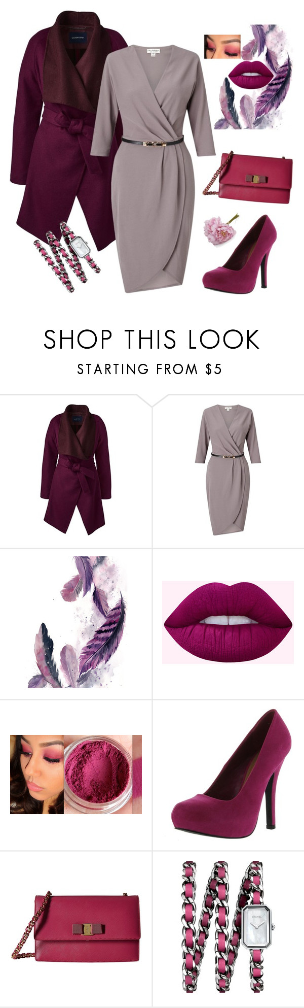 """Untitled #670"" by domla ❤ liked on Polyvore featuring Lands' End, Miss Selfridge, Qupid, Salvatore Ferragamo, Chanel and Crate and Barrel"