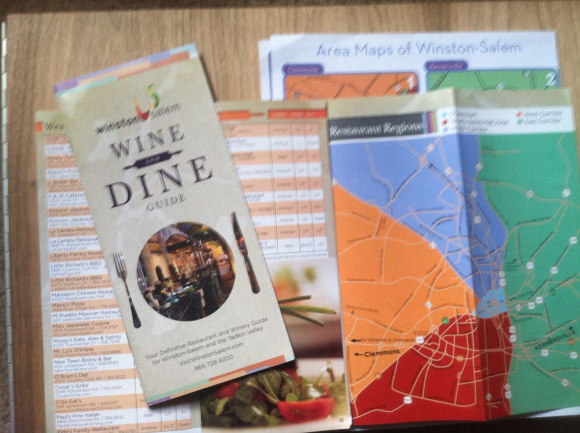 Winston Salem Nc Wine And Dine Guide Map Redesign Publication
