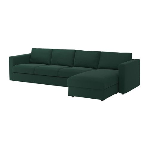 Vimle Sectional 4 Seat With Chaise Gunnared Dark Green