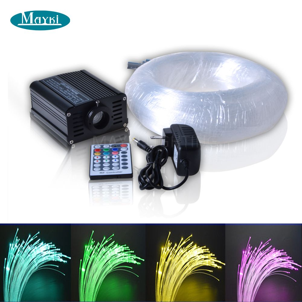 High quality 0.75mm PMMA fiber optic lighting systems with 16W RGB ...