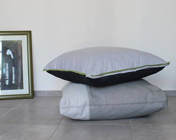 Floor pillow cover Floor cushion Large pillow Seating   Soft ...