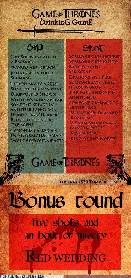 Sit On Your Throne And Weep Drinking Games Game Of Thrones