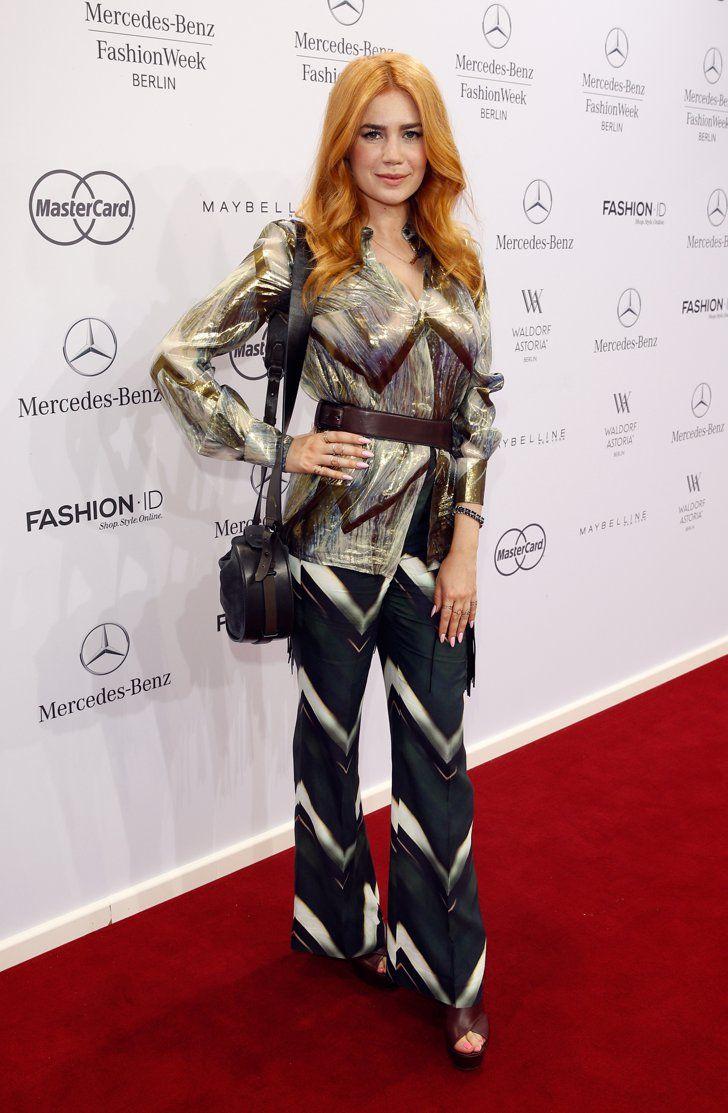 Pin for Later: 48 Fotos, die beweisen was für ein Style-Chameleon Palina Rojinski ist Juli 2015 bei der Fashion Week in Berlin