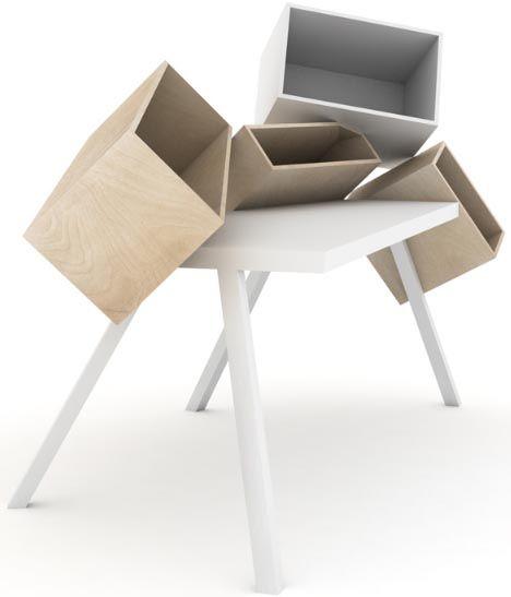 Furniture Funky Artistic Wood Funky Desks Home Office Desks With