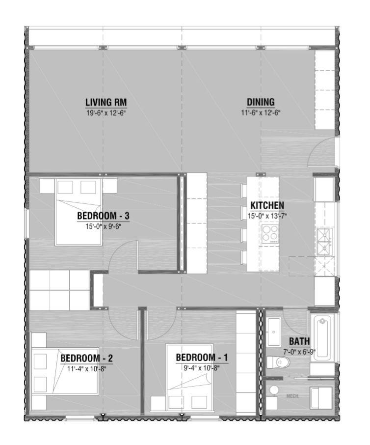 3 Bedroom 1 Bath Honomobo Canada Shipping Container Homes Container House Container House Plans