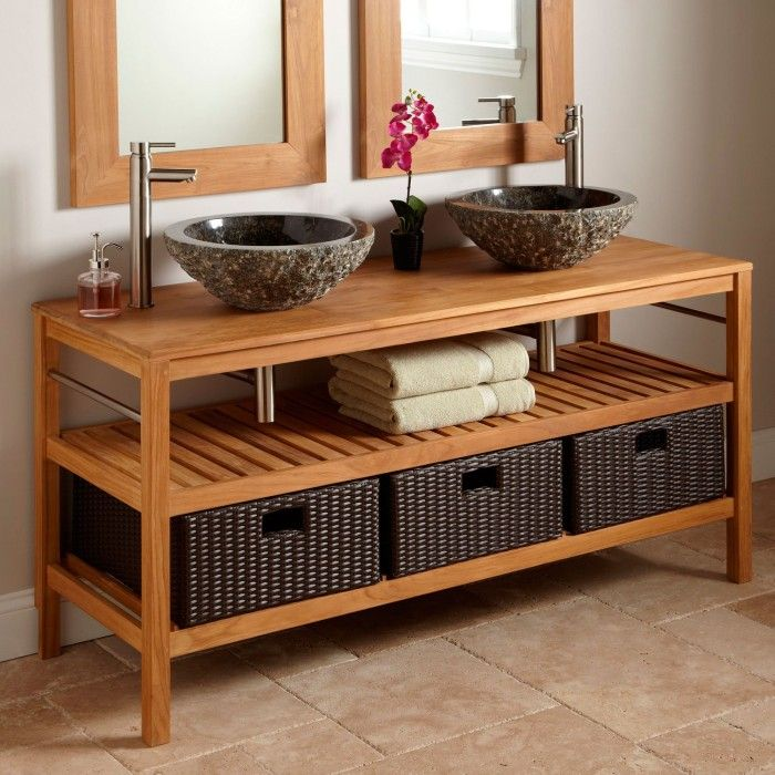 25 Rustic Style Ideas With Rustic Bathroom Vanities  Vessel Sink Delectable Rustic Bathroom Hardware Design Inspiration