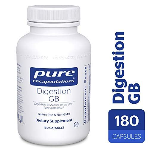 Pure Encapsulations – Digestion GB – Digestive Enzyme Formula with Extra Support for Gall Bladder Function and Fat Digestion* – 180 Capsules #gallbladder