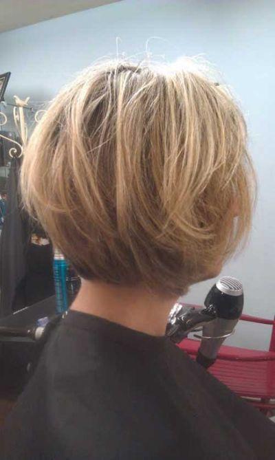 Stacked Short Layered Bob Hairstyles 5