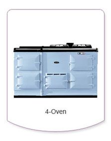 The 4-oven range cooker includes a warming plate and oven not found on the 3-oven model.