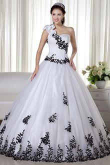 Vestido para 15 blanco y negro
