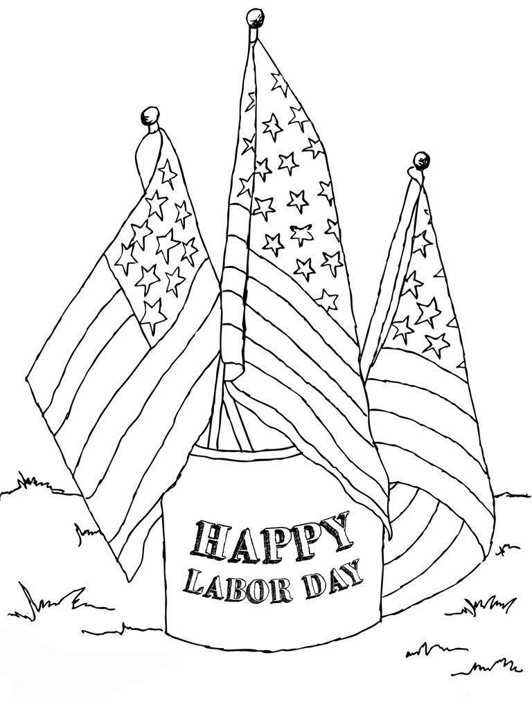 Labor Day Coloring Pages | Holiday Coloring Pages | Coloring pages ...