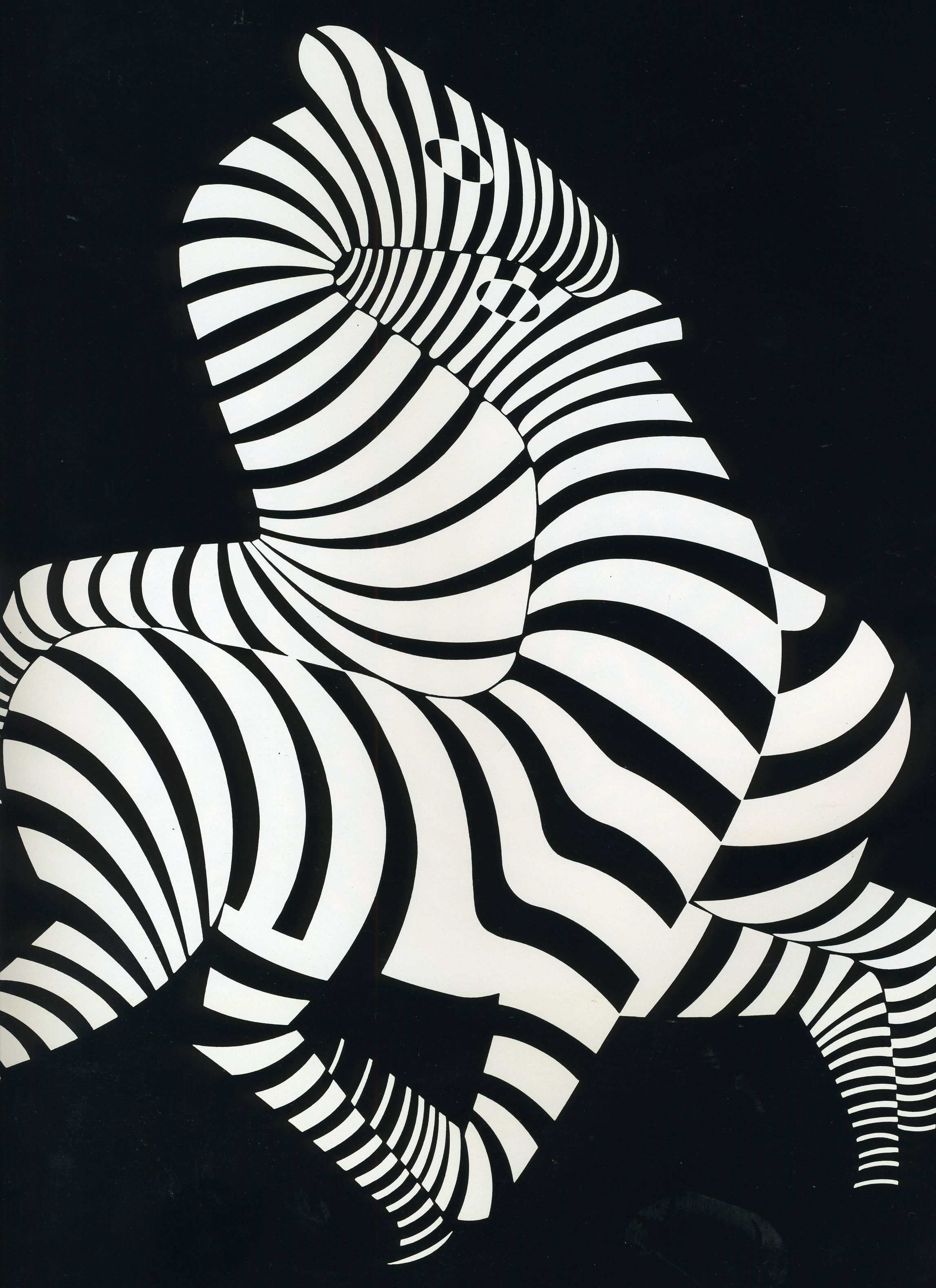 here is another example by artist victor vasarely on the difference between positive and negative space