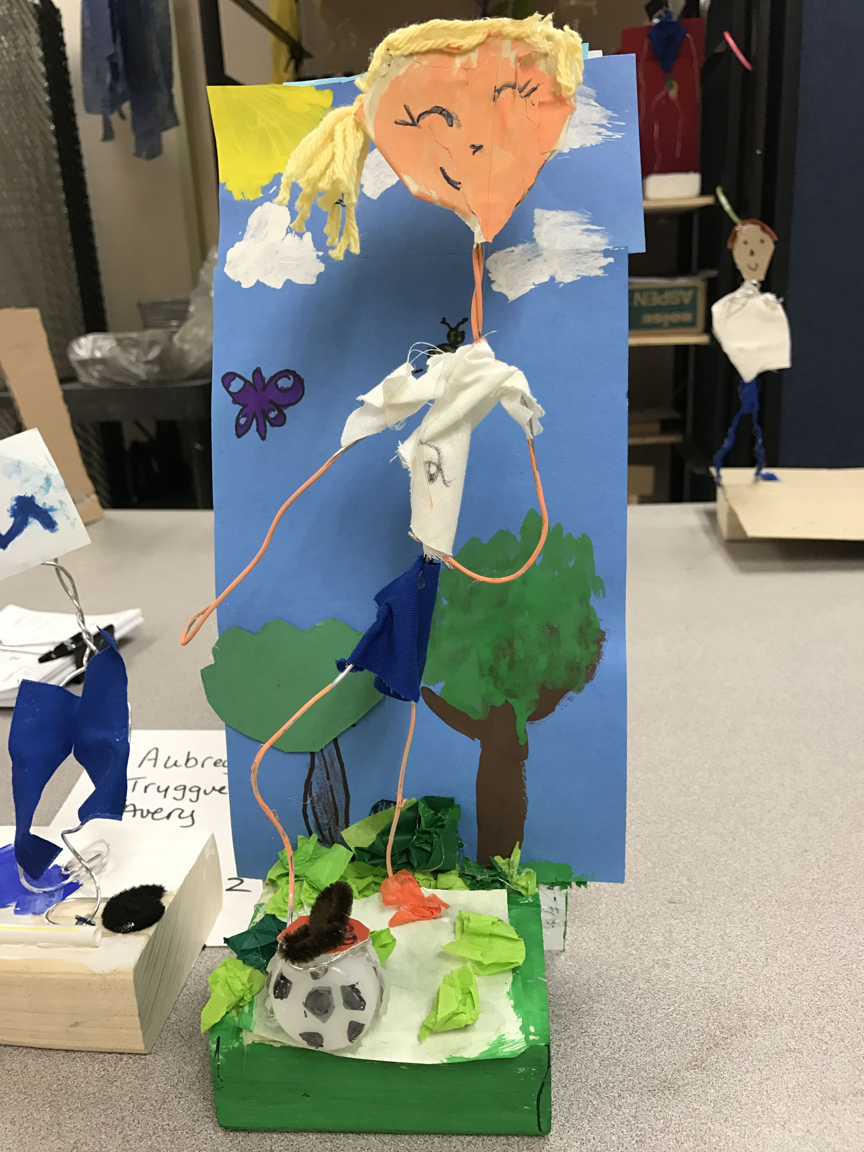 4th grade armature sculptures: wire and wood block. | Tried this ...